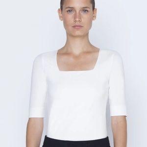 Akris Square Neck Shirt- Off White